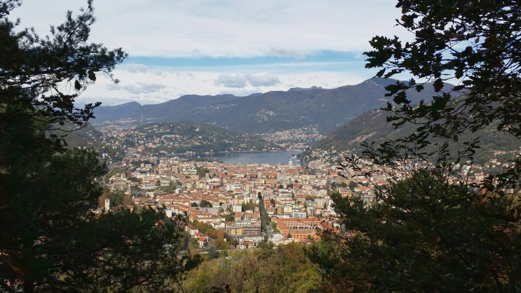 Como town from Monte Goj panoramic viewpoint.